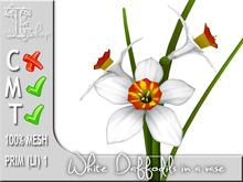 Terrashop-White daffodils in a vase MT