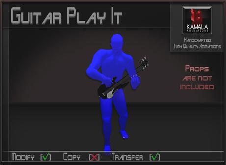 Musical *Electric Guitar Play It* Transferable Poseball