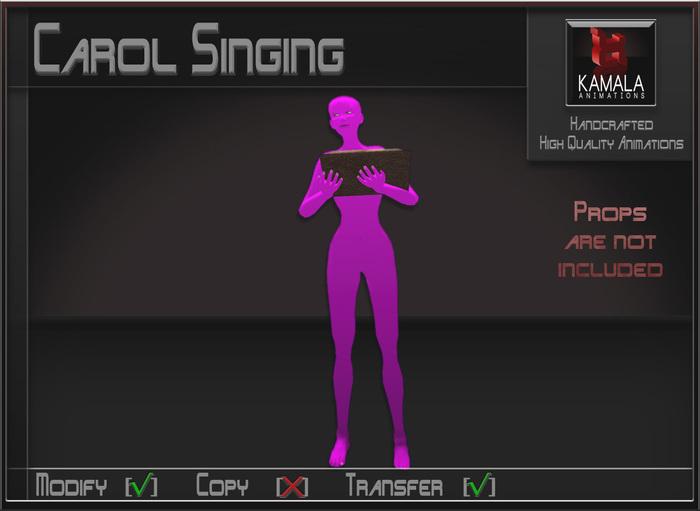 Musical *Carol Singing* Transferable Poseball