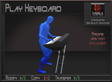 Musical *Play Keyboard* Transferable Poseball