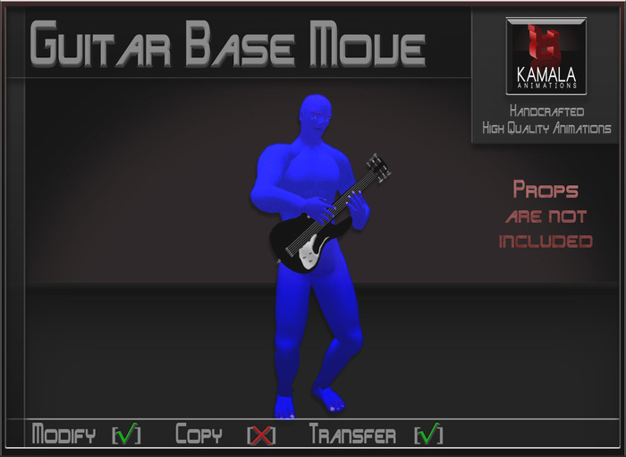 Musical *Electric Guitar Base move* Transferable Poseball
