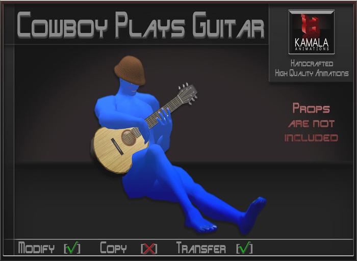 Musical *Cowboy Plays Guitar* Transferable Poseball