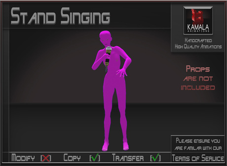 Musical *Stand Singing* Animations for Builders
