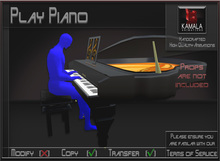 Musical *Play Piano* Animations for Builders