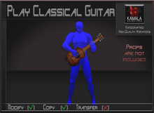Musical *Play Classical Guitar* Copyable Poseball