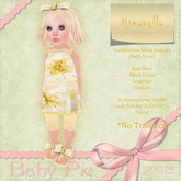 *Baby Pie* Mirabelle Toddleedoo Complete Outfit - Almost Freebie! 5L Promotional Sale!  Spring / Sunflower Theme