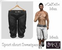 [[>CaKe!!<]]-Sport short Sweatpants  Mesh Male-Black