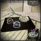 !! Follow US !! Easter - Coffee tray with flower