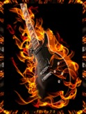 Flaming Guitar Animated Picture