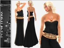 ::TorMe Designs:: Black Strapless Blouse & Black Jersey Skirt