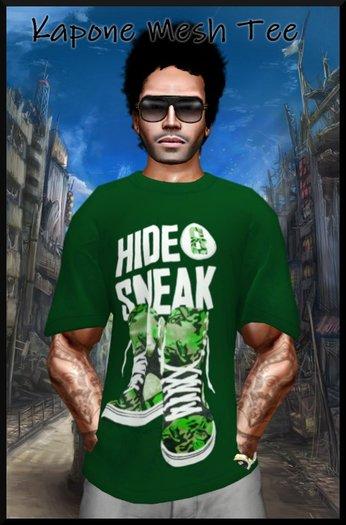 Kapone Large mesh tee shirt sneak green