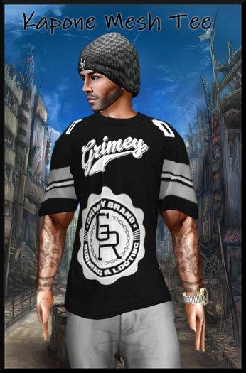 Kapone Large mesh tee shirt band black