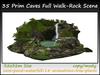 35 Prim Caves Full Walk-Rock Scene