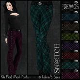 :::Sn@tch Mesh Kiki Plaid Pants-All Colors (XLarge):::