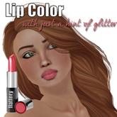 Flattery Glitter Lip Color in Honeyrose