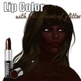 Flattery Glitter Lip Color in Mucho Mocha