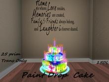 Paint Drop Cake