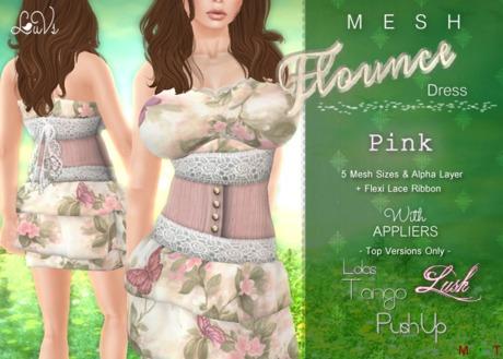 [LuVs] Flounce Dress Pink + Tango Pushup Lush Appliers
