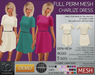 TD Templates Mesh Ladies Charlize Dress DEMO