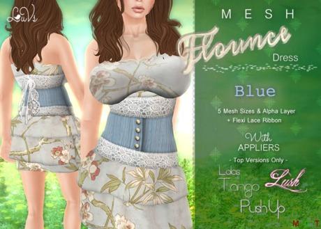 [LuVs] Flounce Dress Blue + Tango Pushup Lush Appliers