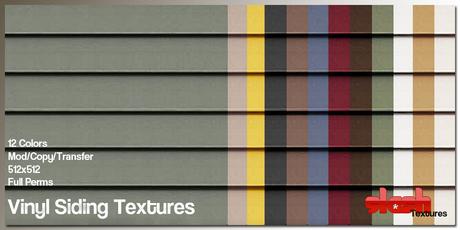 Slash Textures - Vinyl Siding Textures - Full Perms, Seamless 12 Colors