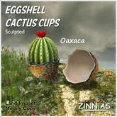 *Zinnias* Eggshell Cactus Cups (Oaxaca)