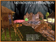 Skybox with Waterfall, Forest, Hut, Coffin shop Full Perm.