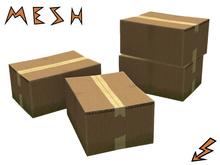 Mesh Cardboard Box (2 texture variants)