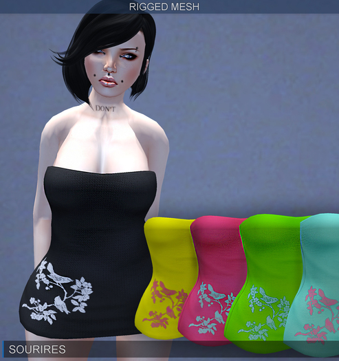 SOURIRES - Nature Mini Dress - Dark [MESH] (Femme)