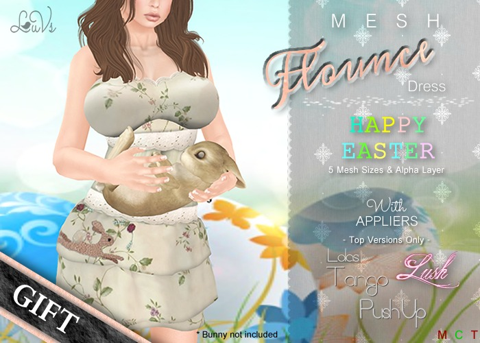 [LuVs] Flounce Dress Easter + Tango Pushup Lush Appliers