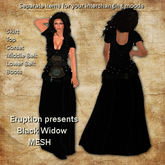 Black Widow Mesh Skirt Outfit by Eruption