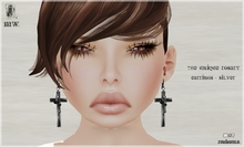 MiWardrobe - The Unique Rosary - Earrings - Silver - B