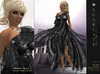 **Soldé/Sale Price** Ramalie - Black -  Dress Gown Formal - Robe