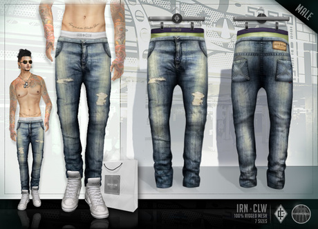 Second Life Marketplace Ic Mesh Low Rise Skinny Jeans