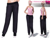 CLASSIC RIGGED MESH Women's Female Ladies Low Waist Elastic Cuff Jersey Pants Sweatpants - 3 TEXTURES