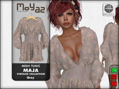 Maja Mesh tunic~ Vintage collection - Grey