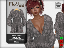 Maja Mesh tunic~ Vintage collection - Black