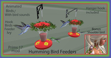 HUMMING BIRD FEEDERS WITH  IVY