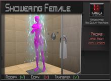 Bathroom *Showering Female* Transferable Poseball