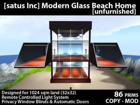 [satus Inc] Modern Glass Beach Home [unfurnished]