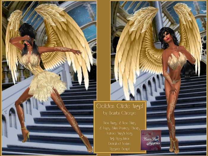 GOLDEN GLIDE FAIRY & Wings Full Outfit