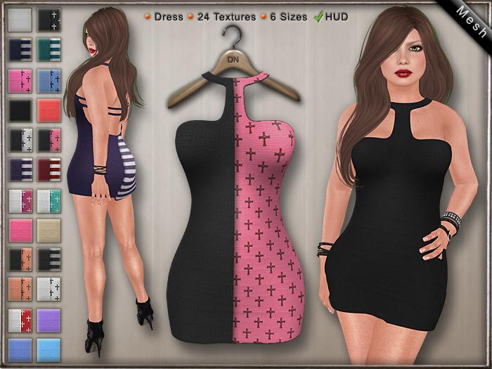 DN Mesh: Tina Dress w HUD