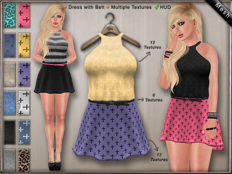 DN Mesh: Layla Dress w HUD