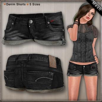 DN Mesh: Laura Shorts - Black