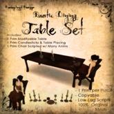 [DDD] Rustic Dining Table Set - 100% Mesh