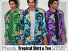 [Phunk] Mesh Tropical Shirt & Tee