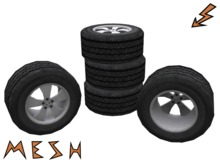 Mesh Car Wheel / Car Tire (Left and Right)