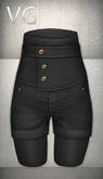 [VG] High Waist Shorts - Black
