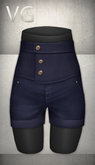 [VG] High Waist Shorts - Navy