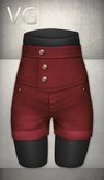 [VG] High Waist Shorts - Red